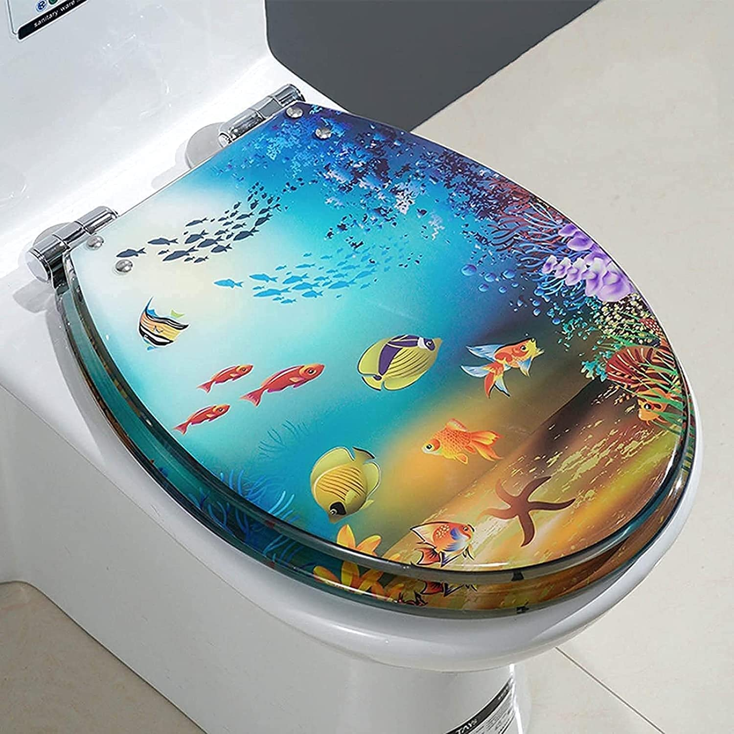 NFRMJMR Resin 0.6 Inch Thicken Sl Be excellence super welcome Round Toilet Seat