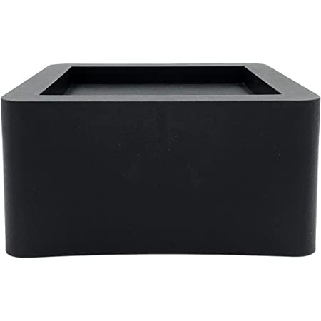 DuraCasa 3 Inch Bed Risers - Fits Huge 5.5 Inch Bed or Furniture Post, Creates an Additional 3 Inches of Height or Storage! Heavy-Duty Table, Chair, Desk or Sofa Riser (4, 3 Inch Black)