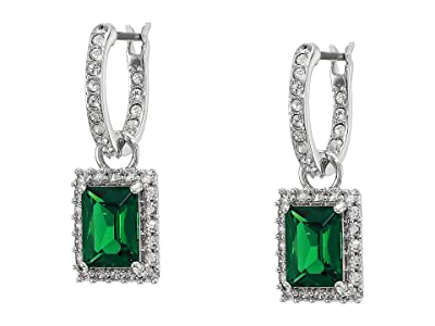 Swarovski Angelic Rectangular Pierced Earrings (Green) Earring