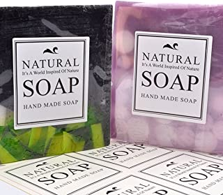 Natural Hand Made SOAP Stickers Labels Gift Wrap Paper