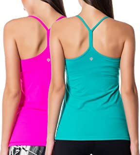 Women Active Workout Yoga Running Tanks Tops Y Racerback Dry Fit 1 2 Pack