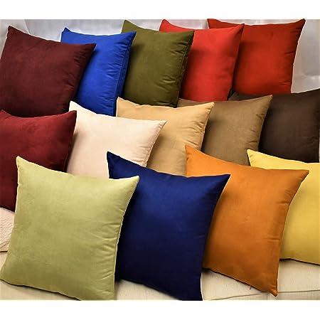 Mb Plain Color Felt Velvet Suede Style Cushion Cover//Pillow Case Custom Size