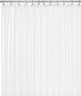 "LiBa PEVA 8G Bathroom Shower Curtain Liner, 72"" W x 72"" H, White, 8G Heavy Duty.."