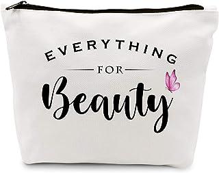 حقيبة مكياج ظريفة للنساء من آيهوبس هدية لأفضل الأصدقاء والأخت والفتيات في سن المراهقة | لطيف كل شيء للجمال من القطن الطبيع...