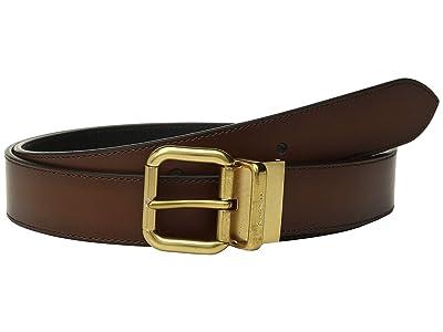COACH 32 mm Jeans Buckle Cts/Reversible Burnished Leather Belt (Multi 1) Men