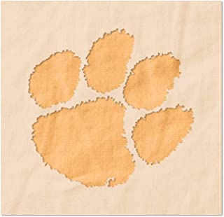 Clemson Tigers Paw Logo Stencil - Reusable 14 Mil Mylar Plastic (2 x 1.92 inches)