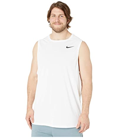Nike Big Tall Superset Top Tank (White/Black) Men
