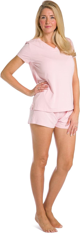 Fishers Finery Ecofabric Women's TShirt   Boxer Pajama Set