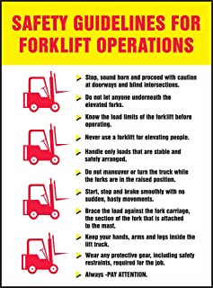 Accuform, Safety Posters SP124485L Safety Guidelines for Forklift Laminated Poster, 22