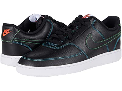 Nike Court Vision Lo (Black/Black/Flash Crimson/Green Strike) Men