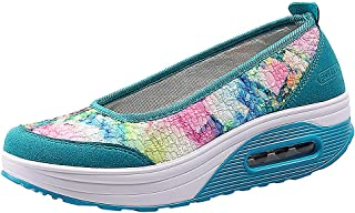 KESEELY Fashion Women's Leisure Breathable Seven Colours with Thick Soles High Platform Shoes