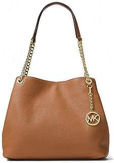 174375abe2 Michael Kors Jet Set Chain Item Large Leather Shoulder Bag (Luggage)