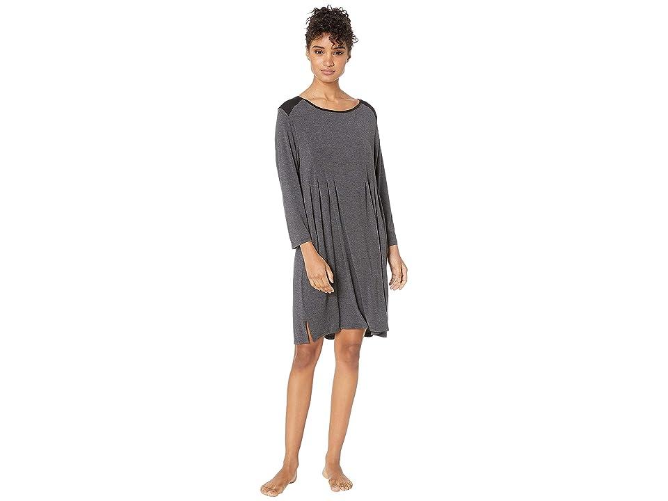 Donna Karan Classic Jersey Sleepshirt (Charcoal Heather) Women