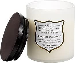 Manly Indulgence Warm Beachwood Soy Blend Candle - 15 oz.