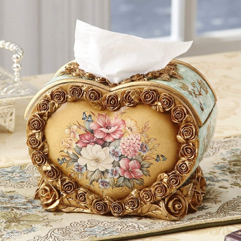 Max 74% OFF AERVEAL Heart-Shaped Tissue Tulsa Mall Holder Dispenser Resin Co Box