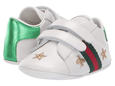 Gucci Kids GG Baby Ace Sneaker (Infant/Toddler) (White/Blue) Kids Shoes