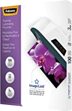 Fellowes Thermal Laminating Pouches, ImageLast, Jam Free, Letter Size, 3 Mil, 100 Pack (52454)