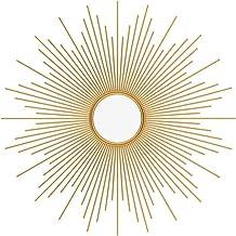 AZOI Decoratieve Spiegel Zon Muur Spiegel Ronde Hangspiegel Gouden Wanddecoratie Met Ophanging Ingangspiegel Badkamer,Woon...