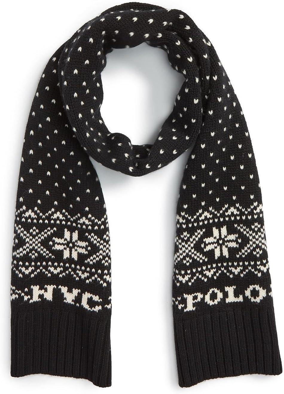 Polo Ralph Lauren Men's Snowflake Wool Scarf