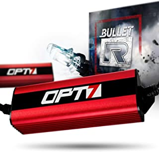 OPT7 Bullet-R H4 9003 Bi-Xenon HID Kit - 3X Brighter - 4X Longer Life - All Bulb Sizes and Colors - 2 Yr Warranty [5000K Bright White Light]
