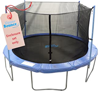 Trampoline Replacement Enclosure Set - Set Includes: Net, Poles & Hardware Only