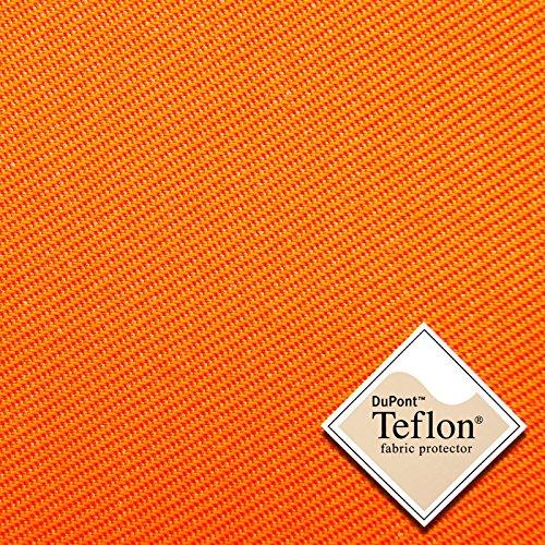 aktivstoffe Köpertex - Tela de algodón y poliéster - Lavable a 90°C - 19 Colores - por Metro (Naranja Fluorescente)