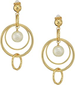 Pearl Update Orbital Linear Clip Earrings