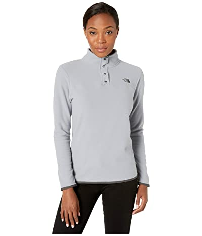 The North Face TKA Glacier Snap-Neck Pullover (Mid Grey/Mid Grey) Women
