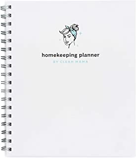 Clean Mama Homekeeping Planner undated, 2021, Year at a Glance Calendars, 12 monthly calendars, Daily and Weekly Cleaning ... photo