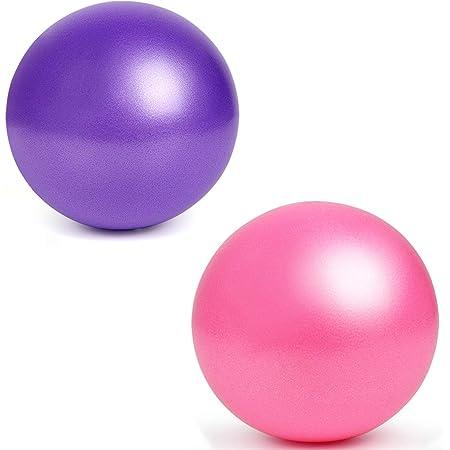 exercice lamta1k Balle de yoga fitness yoga pilates Rose pour gymnastique 25 cm gonflable