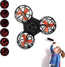SPGuard Anti-Anxiety Flying Fidget Spinner Gyro Stress Reducer with LED Display Light Finger Spinner Hands Focus Toys for ...