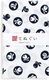 彩(irodori) 小紋手ぬぐい 丸うさぎ ほつれ防止加工なし 33×90cm