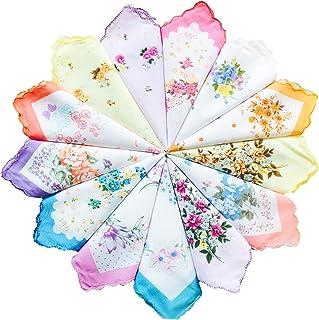 Ladies Vintage Floral 100% Cotton handkerchiefs mixed Bulk