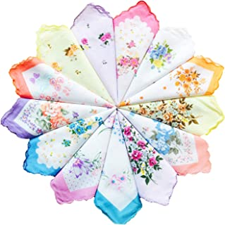 Ladies Vintage Floral 100% Cotton handkerchiefs mixed Bulk