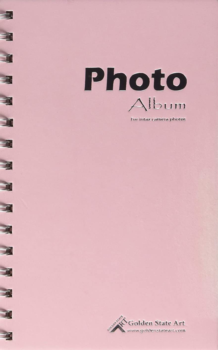 Golden State Art, Light Pink Photo Album Book Style, 60 Pockets, Instax Frames Collection, for Camera Fujifilm Instax Mini 7S 8 70 90 25 50S 8+ Film