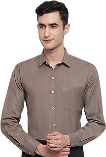 Arihant GHPC Plain Solid Cottswool Winter Wear Woolen Full Sleeves Regular Fit Formal Shirt for Men