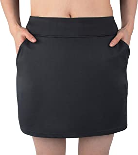 Women Travel Skirt with Pockets Athletic Skirts Active Skirt with Shorts Hiking Skort