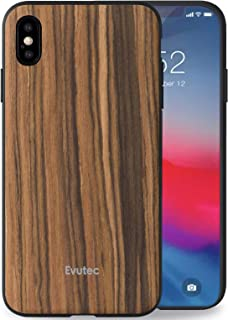 Evutec Apple iPhone XS Max AER Rosewood Case (with Car Vent Mount) - Brown