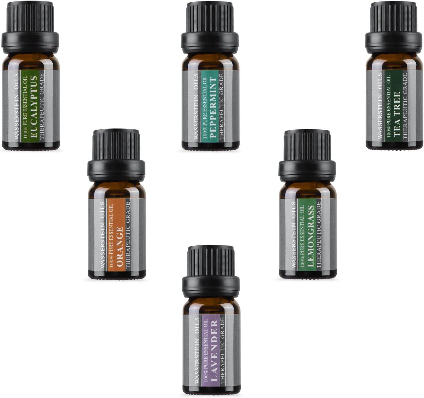 Set de aceites esenciales puros para aromaterapia de Wasserstein (Parte superior 6)