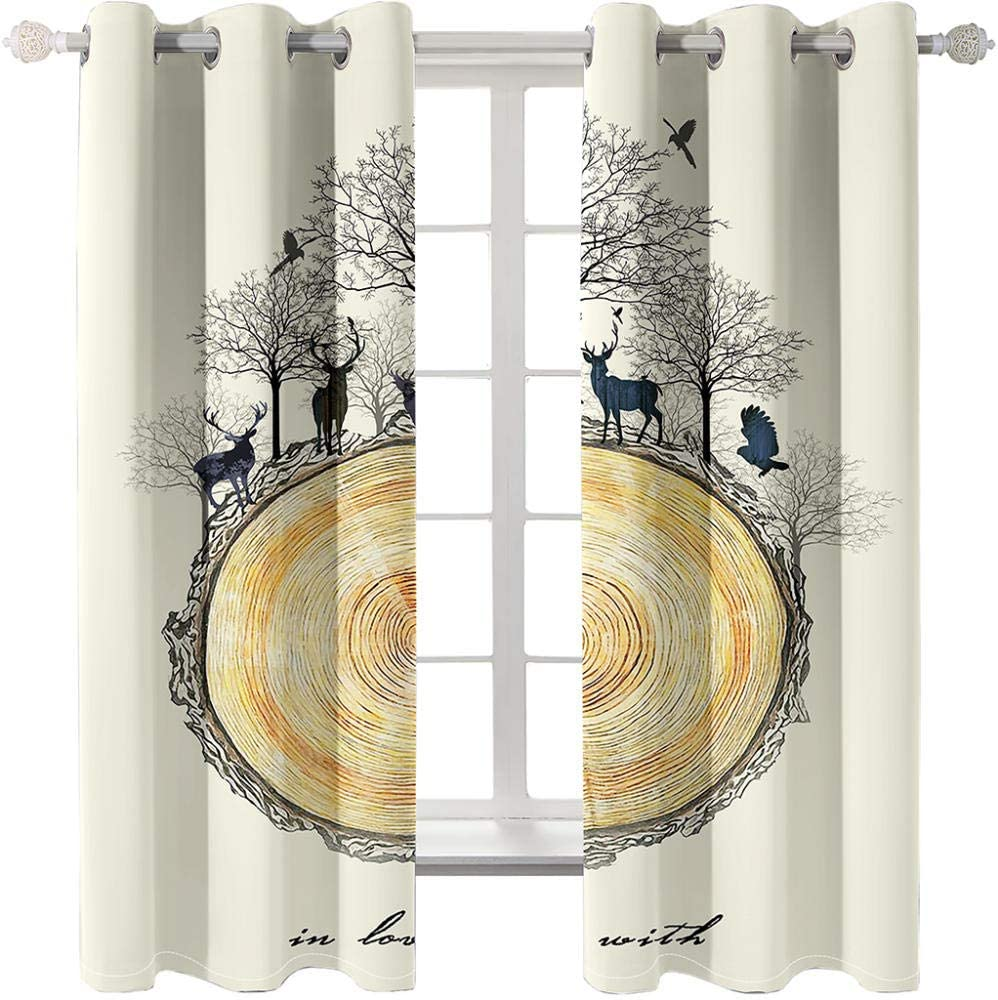Blackout Curtains Deer Popular popular in Challenge the lowest price of Japan The Woods cm Home Li Stylish 150Wx166H