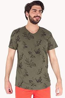 Yaprak Desenli Tshirt