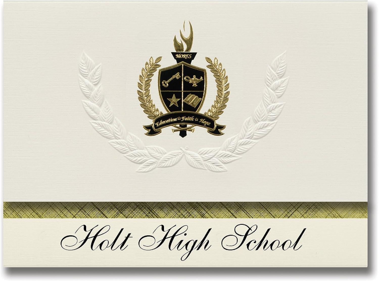 Signature Ankündigungen Holt High School (Holt, AL) Graduation Graduation Graduation Ankündigungen, Presidential Stil, Basic Paket 25 Stück mit Gold & Schwarz Metallic Folie Dichtung B0795VS12W | Ausgezeichnet  9789d8