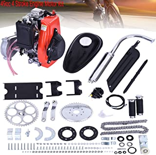 "49cc 4 Stroke Engine Motor Kit, Bike Engine Kit 4 Stroke, Gas Petrol Motorized Bike Engine Bicycle for 26"" or 28"" ATV Bikes"