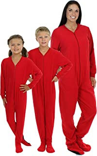 Family Matching Red Footed Onesie Fleece Pajama