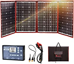 DOKIO 200W 12V Foldable Solar Panel Kit Monocrystalline with Solar Controller USB Output for Caravan RV Boat Camper Any Other Irregular Surface