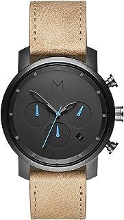 MVMT Reloj Cronógrafo para Hombre de Cuarzo con Correa en Cuero D-MC02-GML