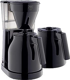 Melitta 6762893 Cafetière Filtre avec 2 Verseuses Isothermes, Easy Therm II, 1023-06, Noir