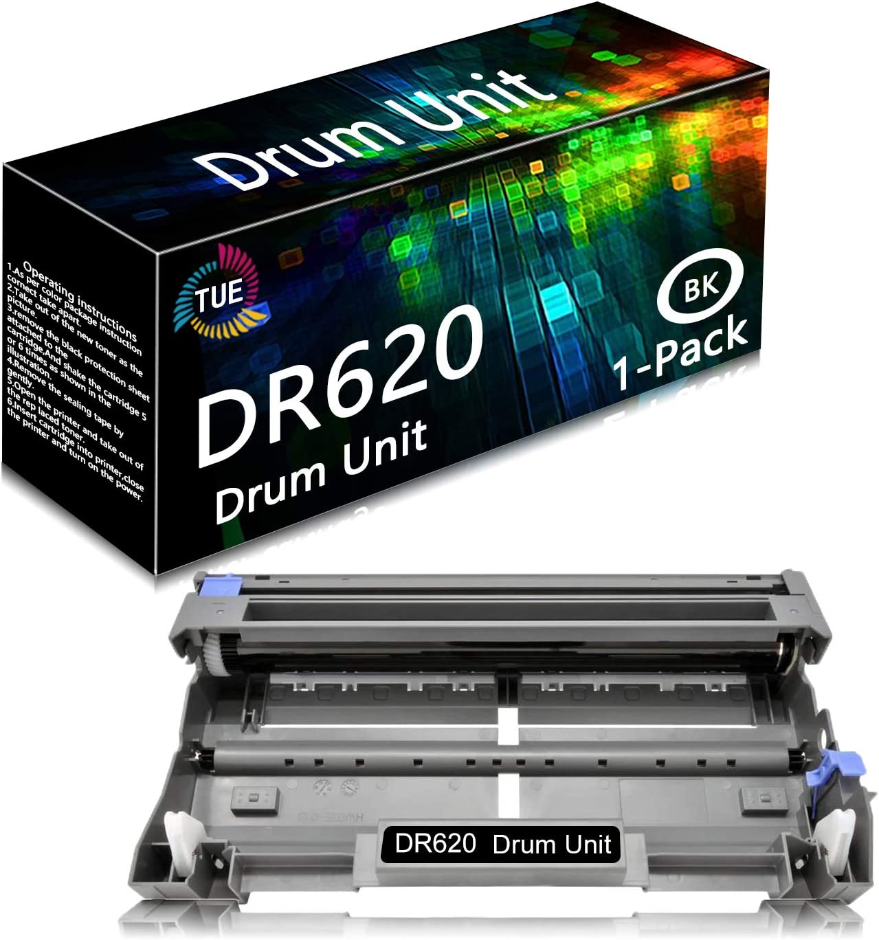 DR620 DR-620 Black 1 Pack Compatible Drum Unit Replacement for Brother HL-5280DW HL-5350DN HL-5370DWT HL-5380DN MFC-8470DN MFC-8880DN DCP-8080DN DCP-8085DN Printer, Sold by TueInk