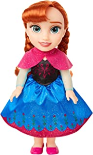 """Disney Frozen Anna Toddler Doll with Movie Inspired Blue & Pink Outfit, Shoes & Braided Hair Style - Approximately 14"""" Tal..."""