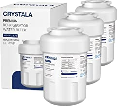 MWF Water Filter for GE Refrigerators, NSF 42 Certified, Compatible with GE MWF, MWFP, MWFA, GWF, GWFA, SmartWater, FMG-1, Kenmore 46-9991 by Crystala Filters, 3 Pack